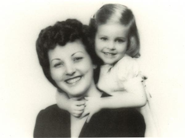 Jo Anne (age 2 or 3) posed for this photo with her mother, Nelle Bayne McCutchan Shelton, in Tulsa, Okla.