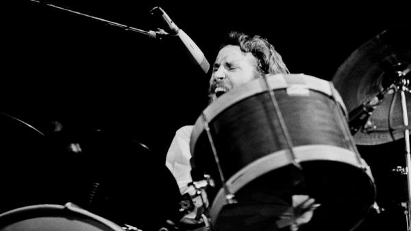 Levon Helm performing with The Band in 1971.