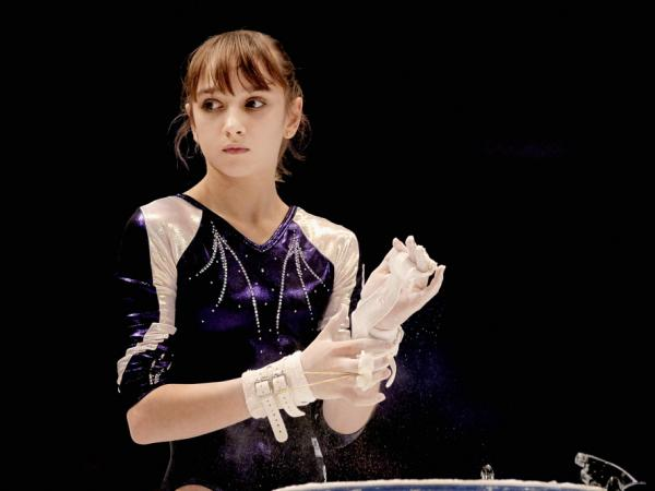 Victoria Komova competes in the 2011 World Championships in Tokyo.