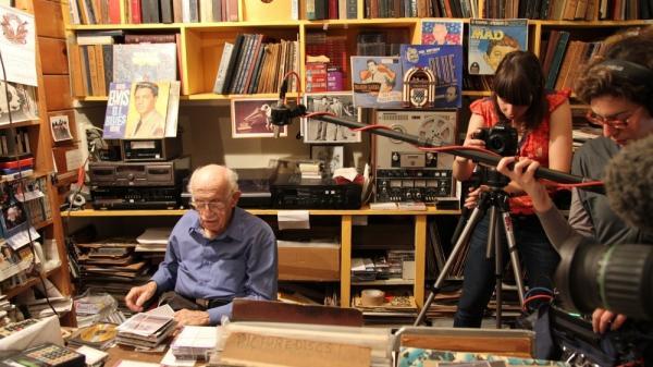 Murray Gershenz at work during the filming of <em>Music Man Murray.</em>