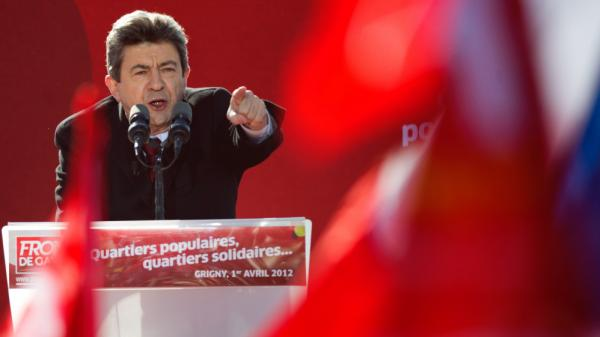 Jean-Luc Melenchon, the Left Front presidential candidate, draws huge crowds, rivaling those of mainstream candidates Nicolas Sarkozy and Francois Hollande. Here, he delivers a speech during a campaign meeting on April 1 in Grigny, outside Paris.