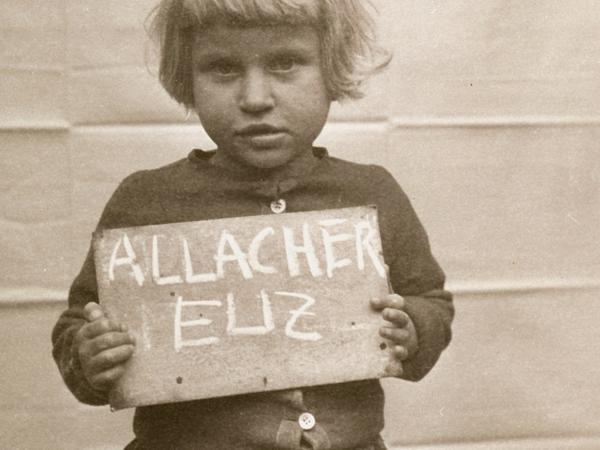 A photo from the <em>Remember Me? </em>project shows a little girl after World War II