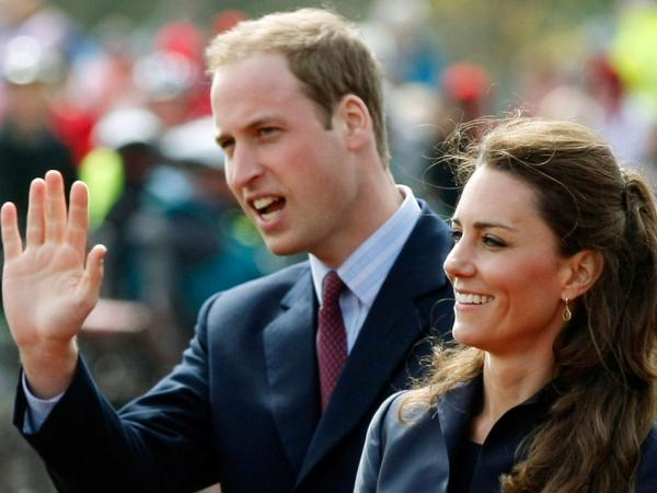 In one  of their last public appearances before their wedding, Prince William and  Kate Middleton arrive at Witton  Country Park in Darwen, England, on April 11.