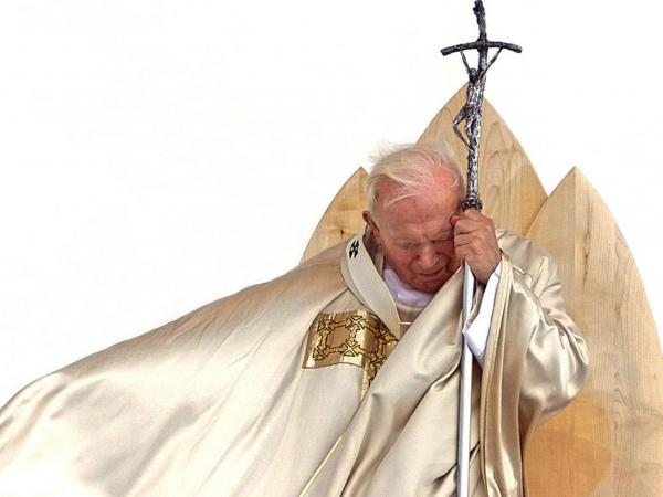 John Paul celebrates a beatification Mass in Maribor, Slovenia, in 1999.