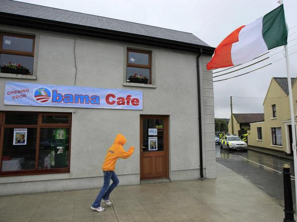 The newly constructed Obama Cafe will open soon in Moneygall, Ireland.