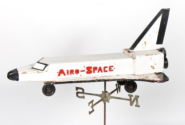 "A weather vane made by a Pennsylvania farmer during the  1980s is the one Space Shuttle-themed artifact John Kleeman has in his collection at the <a href=""http://www.spaceagemuseum.com/"">Space Age Museum</a>."
