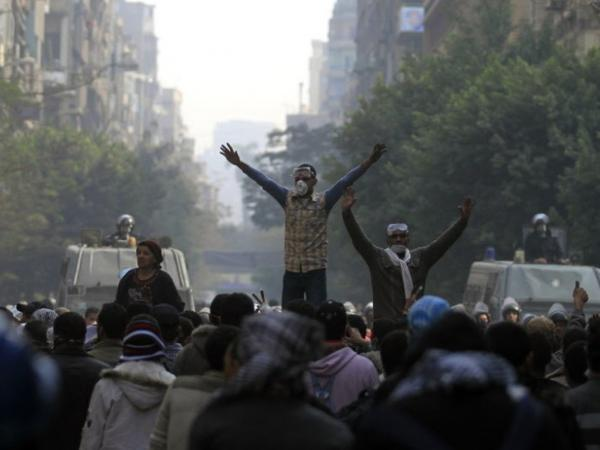 Protesters and police have been engaged in intense clashes in Cairo since the unrest began on Saturday.