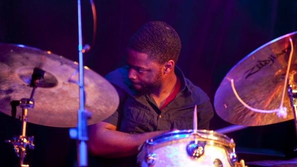 Marcus Gilmore plays with the Vijay Iyer trio during Winter Jazzfest 2012.