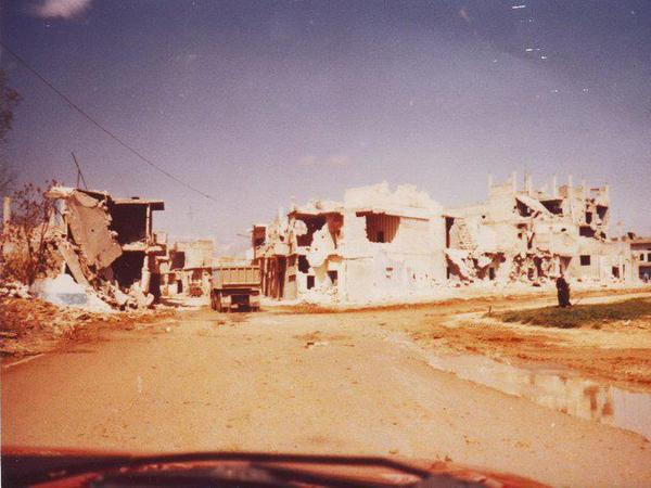 This week marks the 30th anniversary of the Hama massacre of 1982 in central Syria. According to Abu Aljude, who was 16 at the time, these images are documentation of the destruction by President Hafez Assad's regime. In this image, Aljude identifies a bombed Christian church.