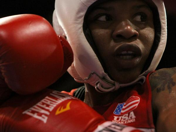 """When I get in the ring, what am I telling myself? 'Stay calm. Stay calm! This is my ticket,' "" says boxer Tyrieshia Douglas."