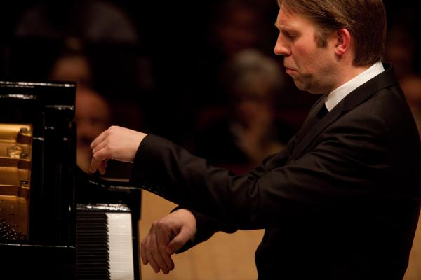 Pianist Leif Ove Andsnes performing at Carnegie Hall in Manhattan, NY on February 15, 2012.
