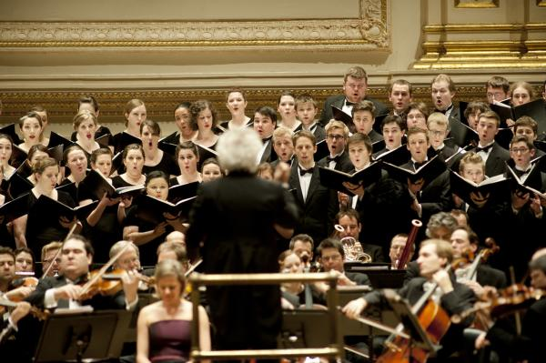 The first part of the evening's concert featured three works for chorus and orchestra by Hugo Wolf — Mahler's contemporary and once close friend.