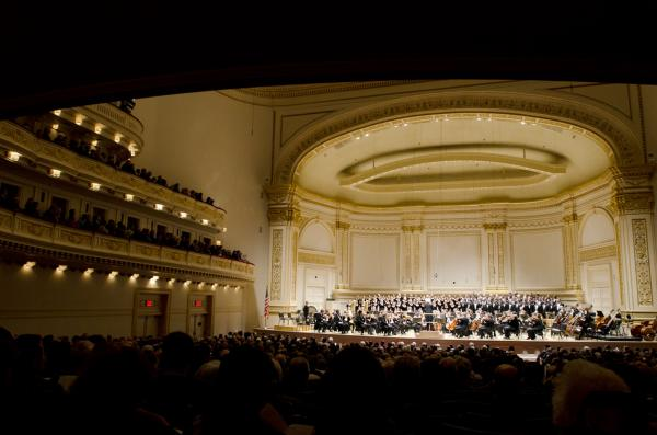 """An icy evening with very heavy winds in New York City for the Berlin Philharmonic: somehow, perfect weather for Mahler's Symphony No. 2 """"Resurrection"""" and three choral works of Hugo Wolf."""