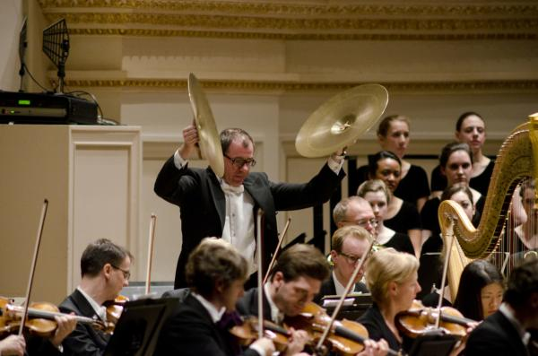 "Bright percussion plays a central role in Mahler's searching ""Resurrection"" Symphony."