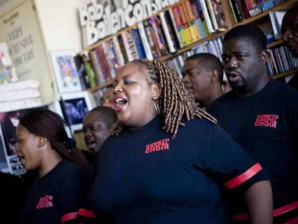 The Soweto Gospel Choir performs a Tiny Desk Concert on February 14, 2011.