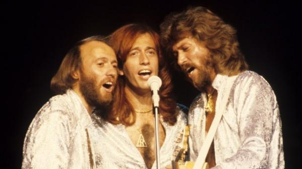 Robin Gibb (center) performs with brother Bee Gees Maurice (left) and Barry in 1979. Gibb died Sunday at the age of 62.