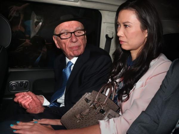 Rupert Murdoch and his wife, Wendi Deng Murdoch, as they were being driven away from the Royal Courts of Justice following his testimony last Thursday in London.
