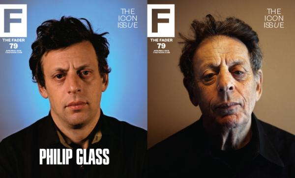 Images of Philip Glass from <em>The Fader</em>'s<em> </em>Icon issue.