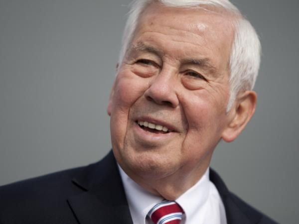 Sen. Richard Lugar, R-Ind., speaks to reporters Monday in South Bend, Ind. Lugar, a 36-year veteran of the Senate, is engulfed in a primary battle with Indiana State Treasurer Richard Mourdock, a Tea Party favorite.