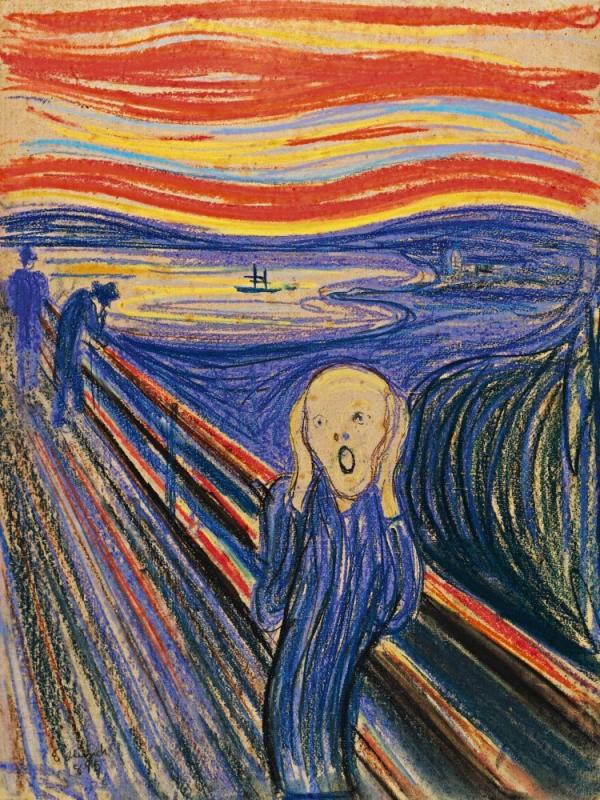This version of <em>The Scream</em> is one of four made by Edvard Munch, and the only one outside Norway. It sold at Sotheby's in New York for $119.9 million.
