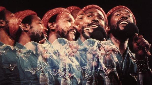 Detail of cover art from the 1974 album <em>Marvin Gaye Live!</em>