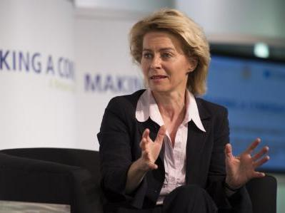 "Germany's first female Minister for Labor and Social Affairs, Ursula von der Leyen, speaks at the conference, ""Returning to Jobs and Growth,"" in Washington, D.C."