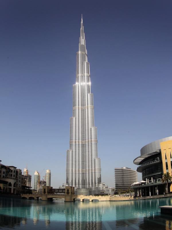 At 2,723 feet, the Burj Khalifa in Dubai, United Arab Emirates, is the tallest building in the world.
