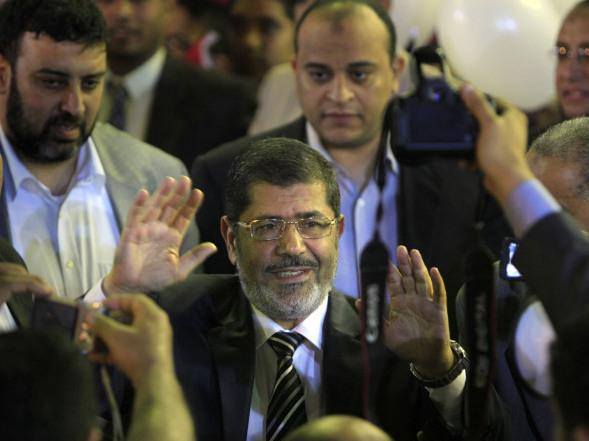 Mohammed Morsi is the candidate for the Muslim Brotherhood, the group that got the most votes in parliamentary elections. He's shown here at a campaign rally in Cairo on April 30.