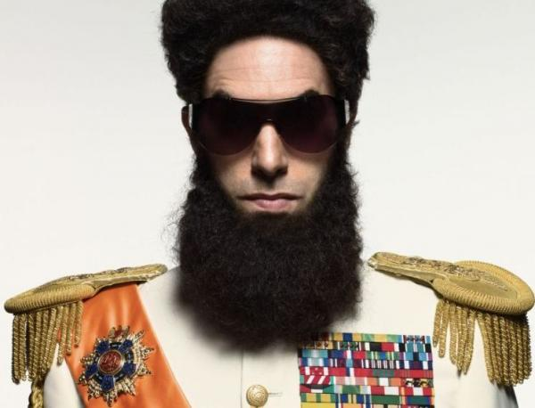Sacha Baron Cohen as Admiral General Aladeen in <em>The Dictator</em>.