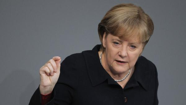 German Chancellor Angela Merkel has been the leading voice for austerity in Europe. But election results over the weekend showed a voter backlash. Merkel said Monday that she still supported the austerity moves.