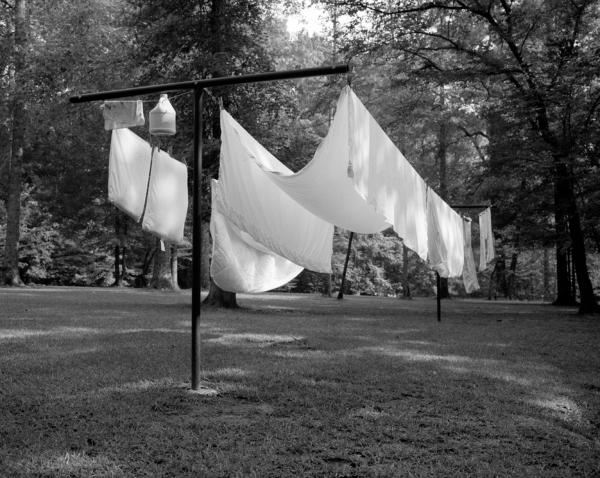 "<em>Clothesline</em>, from Hamrick's series ""Hideaway"" — which is the name his father gave to their Georgia home."