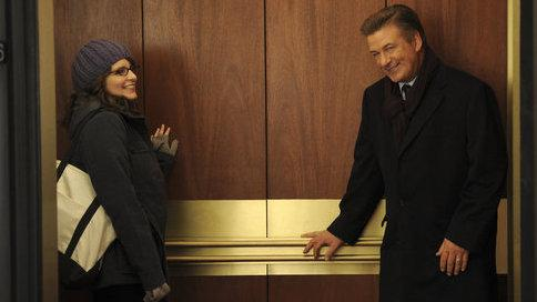 <strong>One more ride:</strong> Tina Fey's Liz Lemon gets 13 more chances to pick up a little elevator advice from Alec Baldwin's Jack Donaghy.