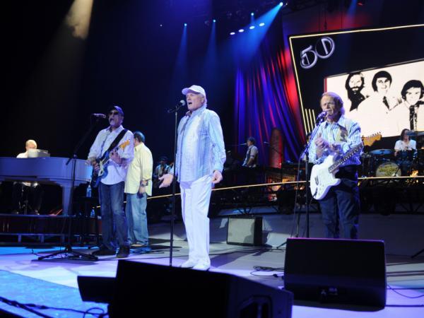 The Beach Boys on their 50th Anniversary tour. (L-R) Brian Wilson, David Marks, Mike Love and Al Jardine.