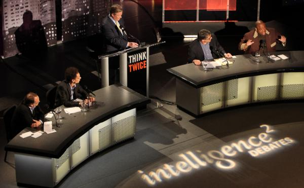 "A panel of experts faces off on the motion ""Ban College Football"" in an Oxford-style debate for <em>Intelligence Squared U.S.</em> on May 8."