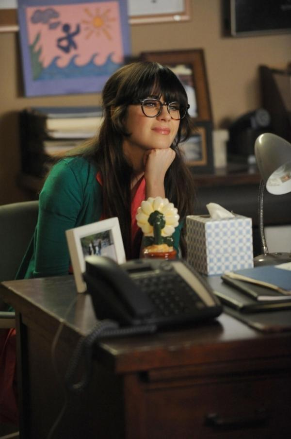 Zooey Deschanel as Jess on Fox's <em>New Girl</em>.