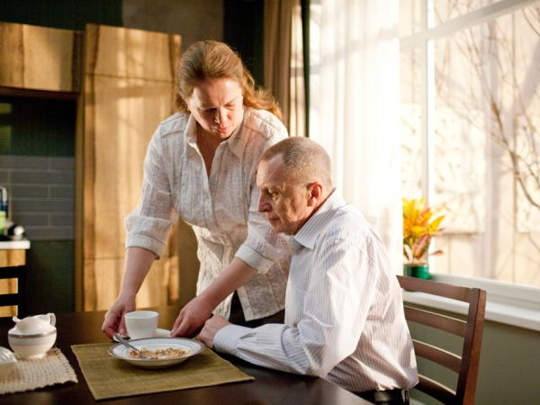 Elena cares for her husband Vladimir's (Andrey Smirnov) needs in a relationship whose true nature is not entirely clear.
