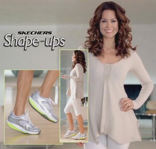 An ad that featured Brooke Burke touting Shape-ups as the latest way to burn off calories and make muscles stronger was cited by the Federal Trade Commission.