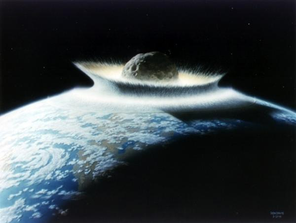 NASA says an impact with a 500-km-diameter asteroid would effectively sterilize the planet.