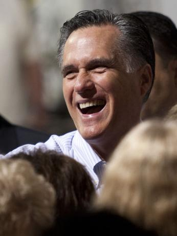 Republican presidential contender Mitt Romney at a campaign event on Wednesday in St. Petersburg, Fla.