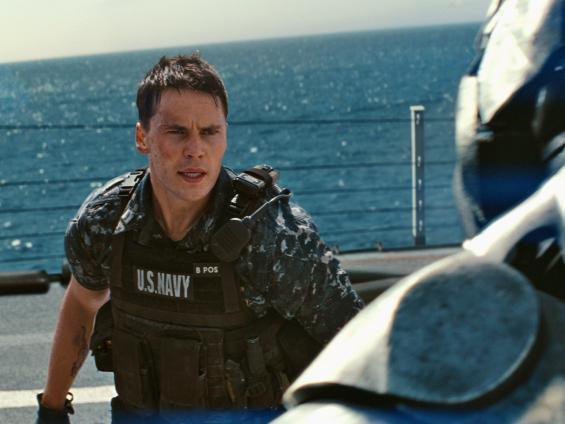 Brash young naval lieutenant Andrew Hopper squares off against an alien invader.