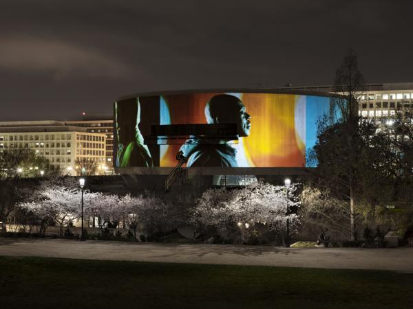 <em>Song 1</em> in operation at the Hirshhorn Museum in Washington, D.C.