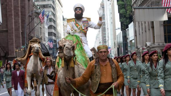 Sacha Baron Cohen plays the fictional North African leader Haffaz Aladeen in his new movie, <em>The Dictator</em>.