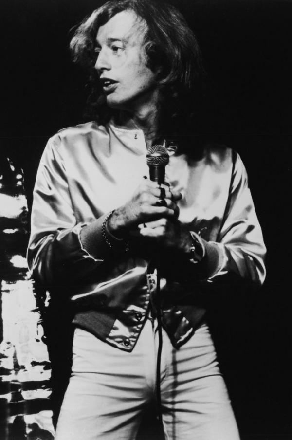 Robin Gibb of the Bee Gees during a concert in the late '70s.