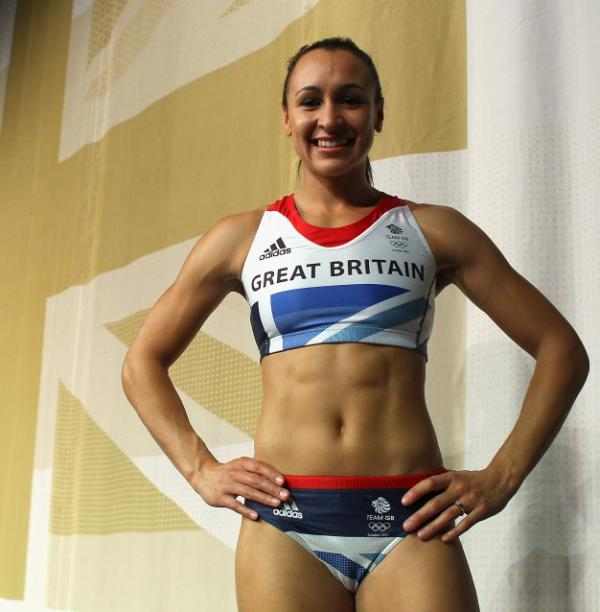 Heptathlon athlete Jessica Ennis in March at the official British team kit launch for the London 2012 Olympic and Paralympic Games.