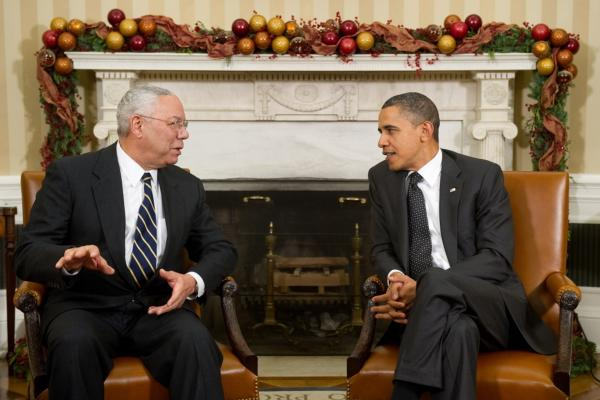 "Powell endorsed Barack Obama for president in 2008. ""I'm proud of the vote I cast for him in 2008, I think he was absolutely the right choice,"" Powell says. When it comes to the 2012 election, Powell says he's ""not prepared"" to say who he'll be voting for."
