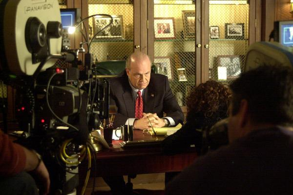 Former Sen. Fred Thompson, R-Tenn., 69, served in Congress from 1994 to 2003 before returning to acting. Here, he tapes a scene for the TV series  <i>Law & Order</i>.