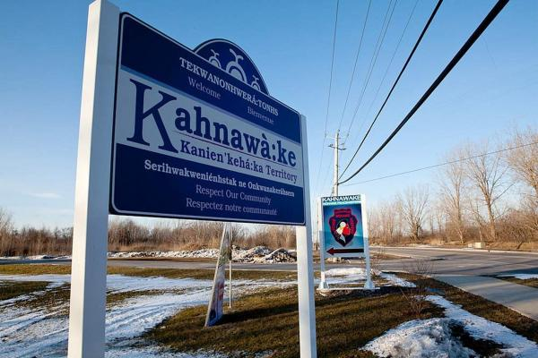 "Kahnawake means ""by the rapids."" It's just south of Montreal, across the St. Lawrence River."