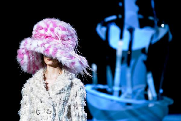 "Marc Jacobs' show was a ""joyous celebration of eccentricity,"" says Sally Singer, editor at <i>T: The New York Times Style Magazine</i>. The set was ""Dr. Seuss-meets-Marie Antoinette paper-cut fantasy,"" and the models were a cross between ""Eliza Doolittle and Fagin's merry band."" The music was from <i>Oliver!</i>"