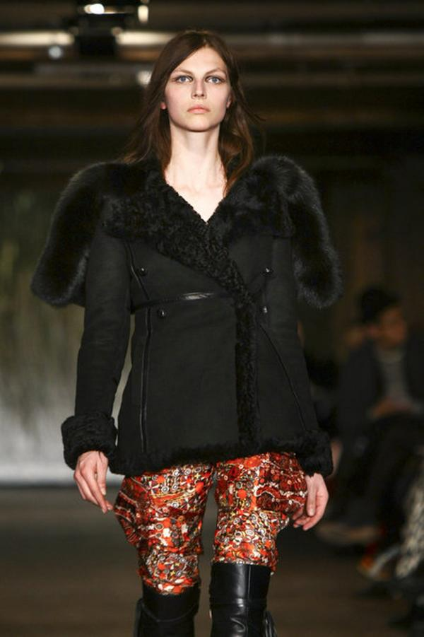 "Another designer returning to simpler ground is Joseph Altuzarra, whose parkas were a great success last year. ""All the conceptual pieces that he had done before didn't matter as much as a staple item that a superfashionable girl could wear day in, day out on the street,"" Singer says. This year, he returns with a black shearling coat with luxe fur trim and a thin leather belt."