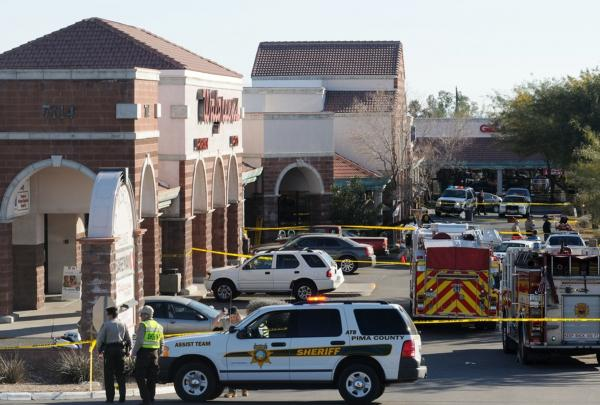 Giffords was shot in the head during an event to meet constituents in Tucson, Ariz., on Jan. 8, 2011. Six people were killed and 13 wounded in the attack.